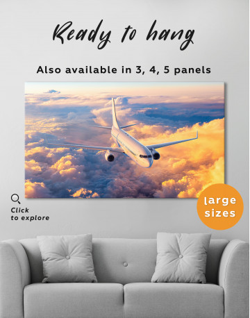 Flying Boeing Airplane Canvas Wall Art - image 3