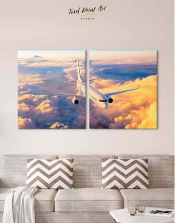 Flying Boeing Airplane Canvas Wall Art - image 9