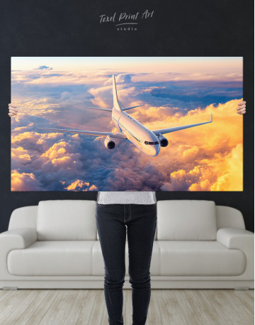 Flying Boeing Airplane Canvas Wall Art - image 10