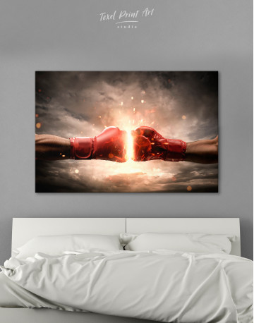Two Hands In Boxing Gloves Canvas Wall Art