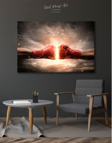 Two Hands In Boxing Gloves Canvas Wall Art - image 4