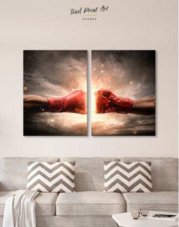 Two Hands In Boxing Gloves Canvas Wall Art - image 9