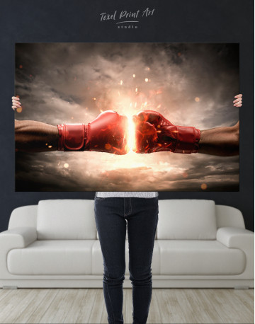 Two Hands In Boxing Gloves Canvas Wall Art - image 10