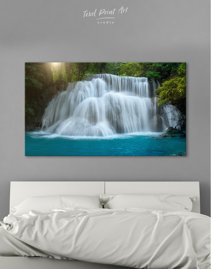 Huai Mae Khamin Waterfall Landscape Canvas Wall Art