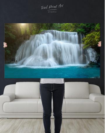 Huai Mae Khamin Waterfall Landscape Canvas Wall Art - image 1