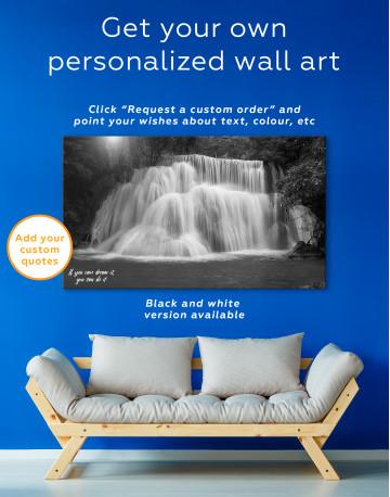 Huai Mae Khamin Waterfall Landscape Canvas Wall Art - image 2