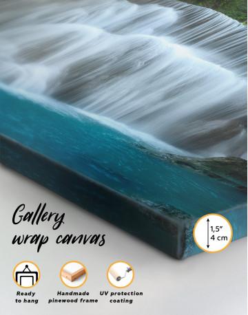 Huai Mae Khamin Waterfall Landscape Canvas Wall Art - image 4