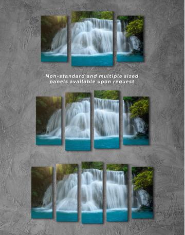 Huai Mae Khamin Waterfall Landscape Canvas Wall Art - image 6