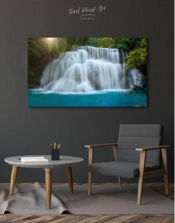 Huai Mae Khamin Waterfall Landscape Canvas Wall Art - image 5