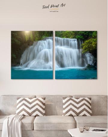 Huai Mae Khamin Waterfall Landscape Canvas Wall Art - image 8