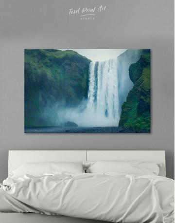 Skogafoss Waterfall Canvas Wall Art