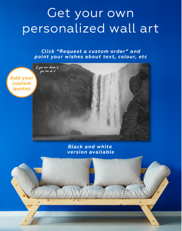 Skogafoss Waterfall Canvas Wall Art - image 3