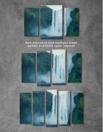 Skogafoss Waterfall Canvas Wall Art - image 5