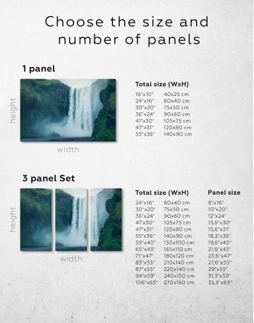 Skogafoss Waterfall Canvas Wall Art - image 8