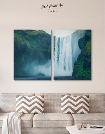 Skogafoss Waterfall Canvas Wall Art - image 10