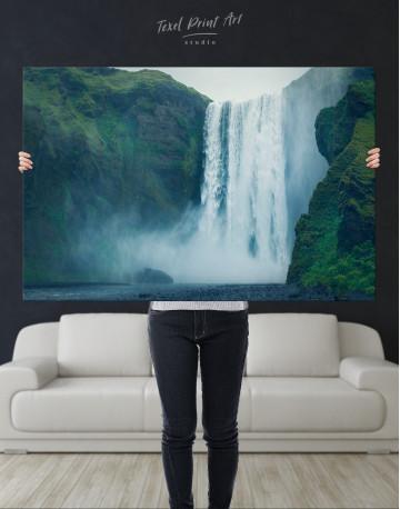 Skogafoss Waterfall Canvas Wall Art - image 1
