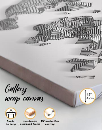 Abstract Geometric World Map Canvas Wall Art - image 2