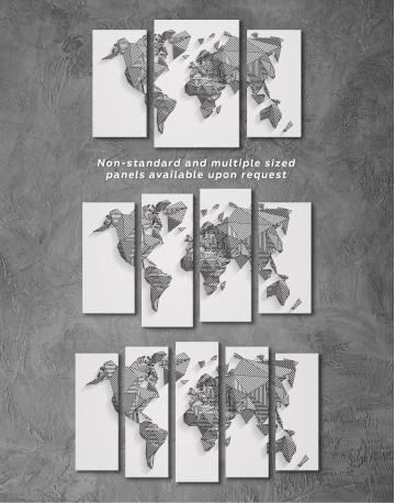 Abstract Geometric World Map Canvas Wall Art - image 5