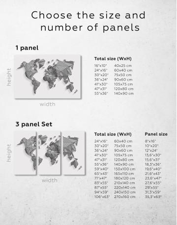 Abstract Geometric World Map Canvas Wall Art - image 8