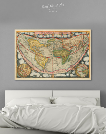 Map of the Ancient World Canvas Wall Art