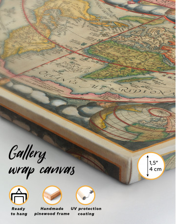 Map of the Ancient World Canvas Wall Art - image 7