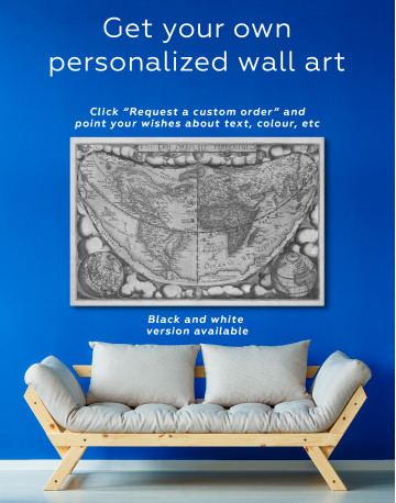 Map of the Ancient World Canvas Wall Art - image 6