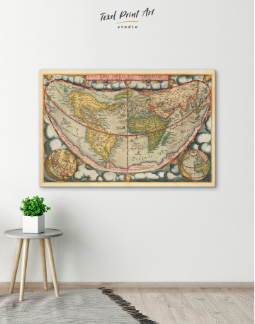 Map of the Ancient World Canvas Wall Art - image 5