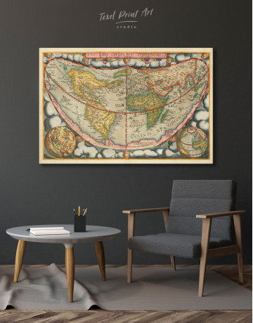 Map of the Ancient World Canvas Wall Art - image 4