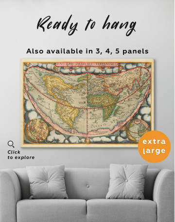 Map of the Ancient World Canvas Wall Art - image 3
