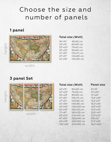 Map of the Ancient World Canvas Wall Art - image 2
