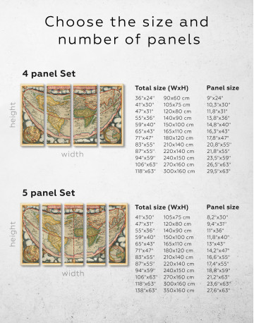 Map of the Ancient World Canvas Wall Art - image 1
