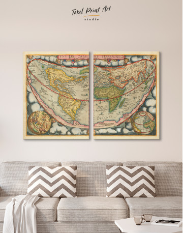 Map of the Ancient World Canvas Wall Art - image 8