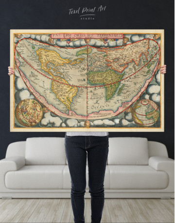 Map of the Ancient World Canvas Wall Art - image 9