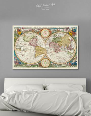 Ancient Hemisphere World Map Canvas Wall Art