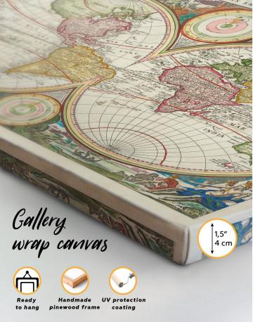 Ancient Hemisphere World Map Canvas Wall Art - image 4