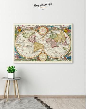 Ancient Hemisphere World Map Canvas Wall Art - image 3