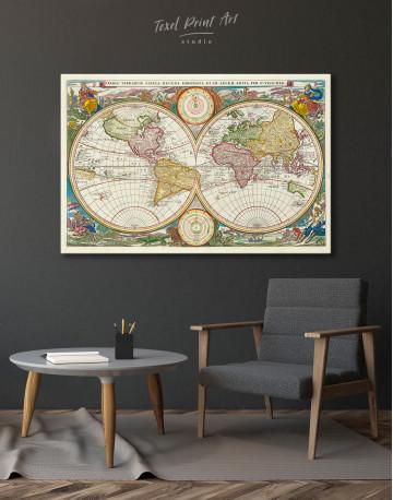 Ancient Hemisphere World Map Canvas Wall Art - image 8