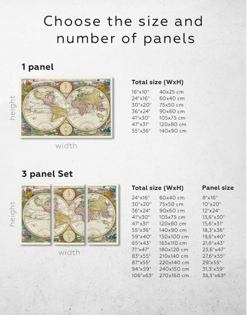 Ancient Hemisphere World Map Canvas Wall Art - image 5