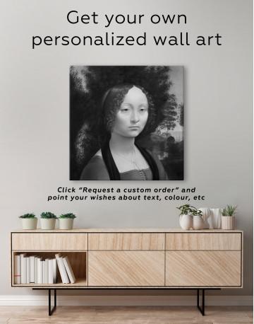 Ginevra de' Benci Canvas Wall Art - image 2
