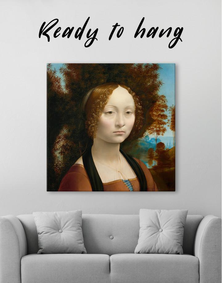 Ginevra de' Benci Canvas Wall Art