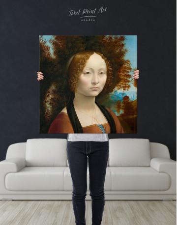 Ginevra de' Benci Canvas Wall Art - image 6