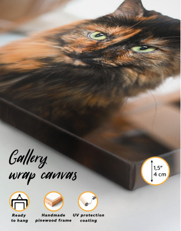 Fluffy Black Calico Cat Canvas Wall Art - image 8