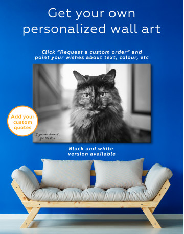Fluffy Black Calico Cat Canvas Wall Art - image 7
