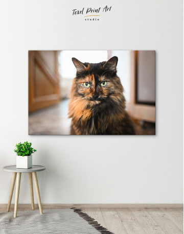 Fluffy Black Calico Cat Canvas Wall Art - image 6