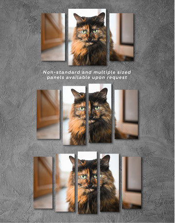 Fluffy Black Calico Cat Canvas Wall Art - image 5
