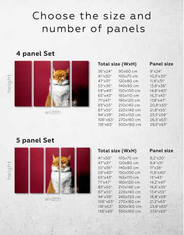 Cat Portrait with Glasses Canvas Wall Art - image 7