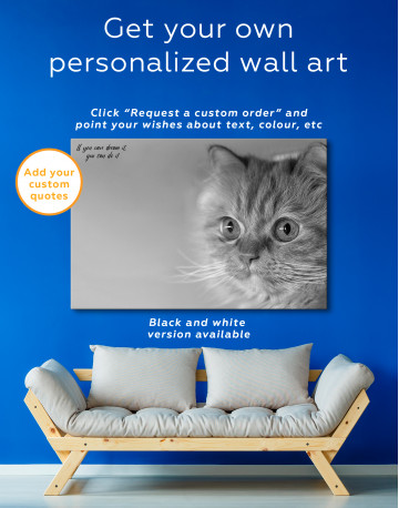Red Persian Cat Canvas Wall Art - image 5