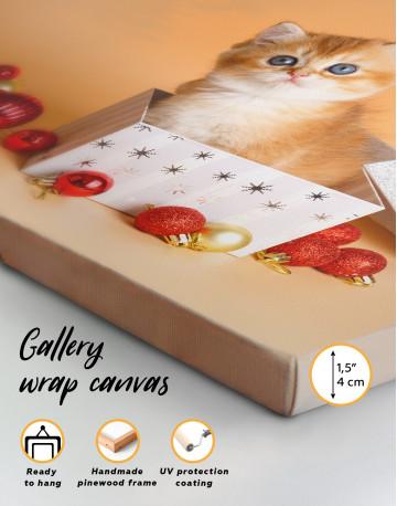 Christmas Box British Kitten Canvas Wall Art - image 8