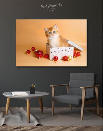 Christmas Box British Kitten Canvas Wall Art - image 4