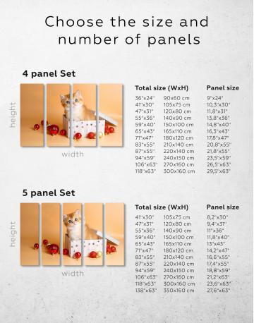 Christmas Box British Kitten Canvas Wall Art - image 6